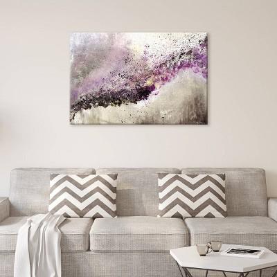 12 x18  Hush by Vinn Wong Unframed Wall Canvas Print Purple - iCanvas