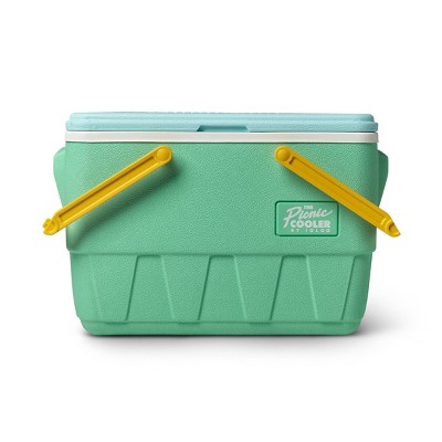 Igloo Picnic Basket Retro Cooler - Mint