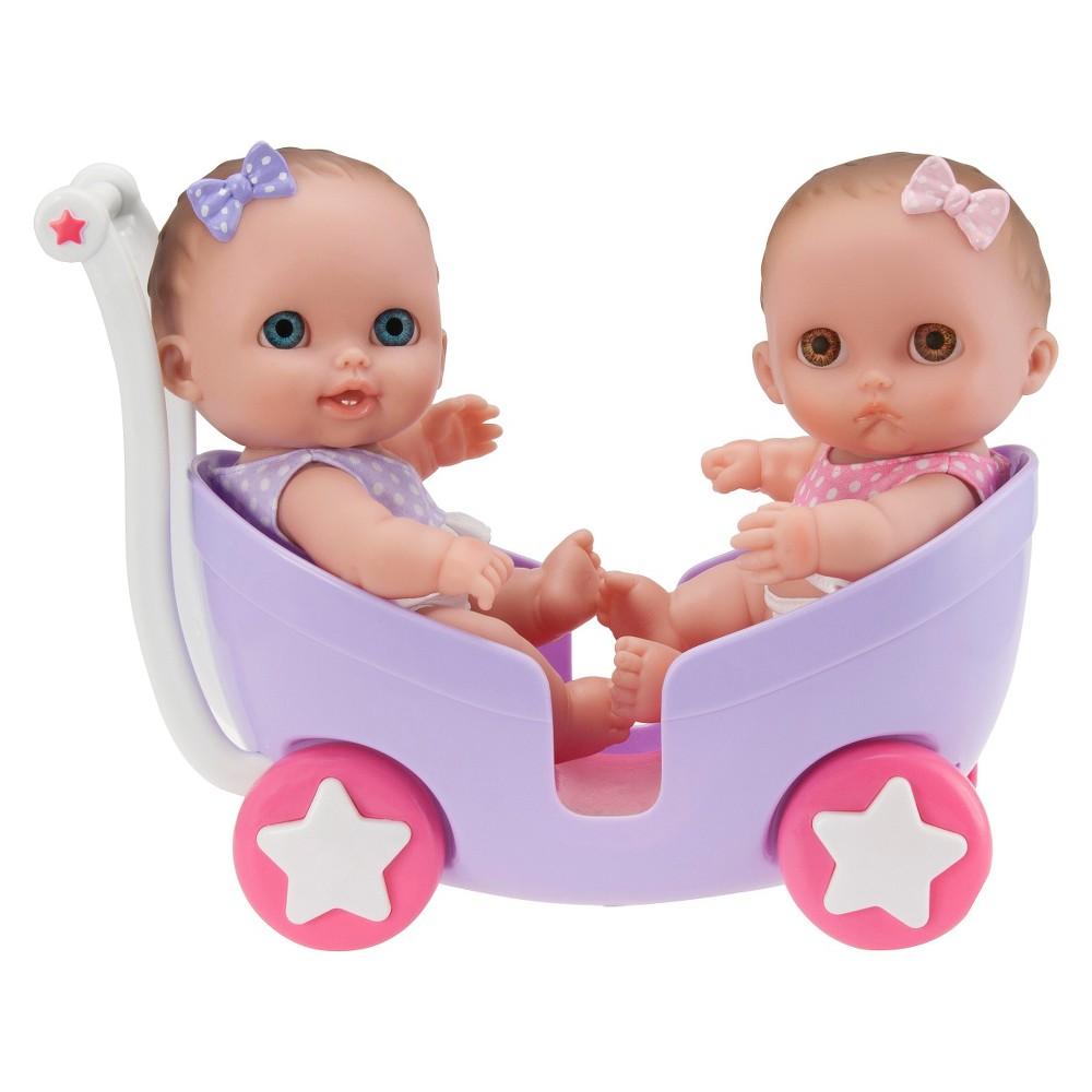JC Toys Lil' Cutesies Twins 8.5 All Vinyl Baby Doll with Stroller