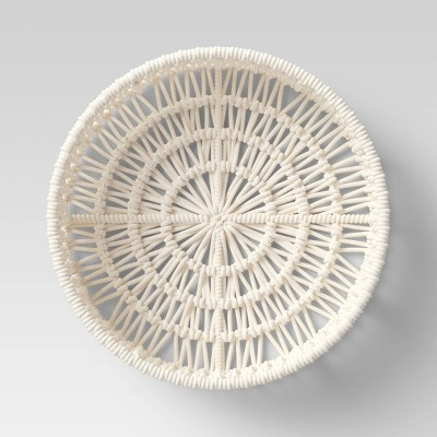 "14"" x 4"" Decorative Weave Tray Cream - Project 62™"
