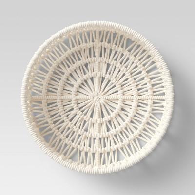 """14"""" x 4"""" Decorative Weave Tray Cream - Project 62™"""