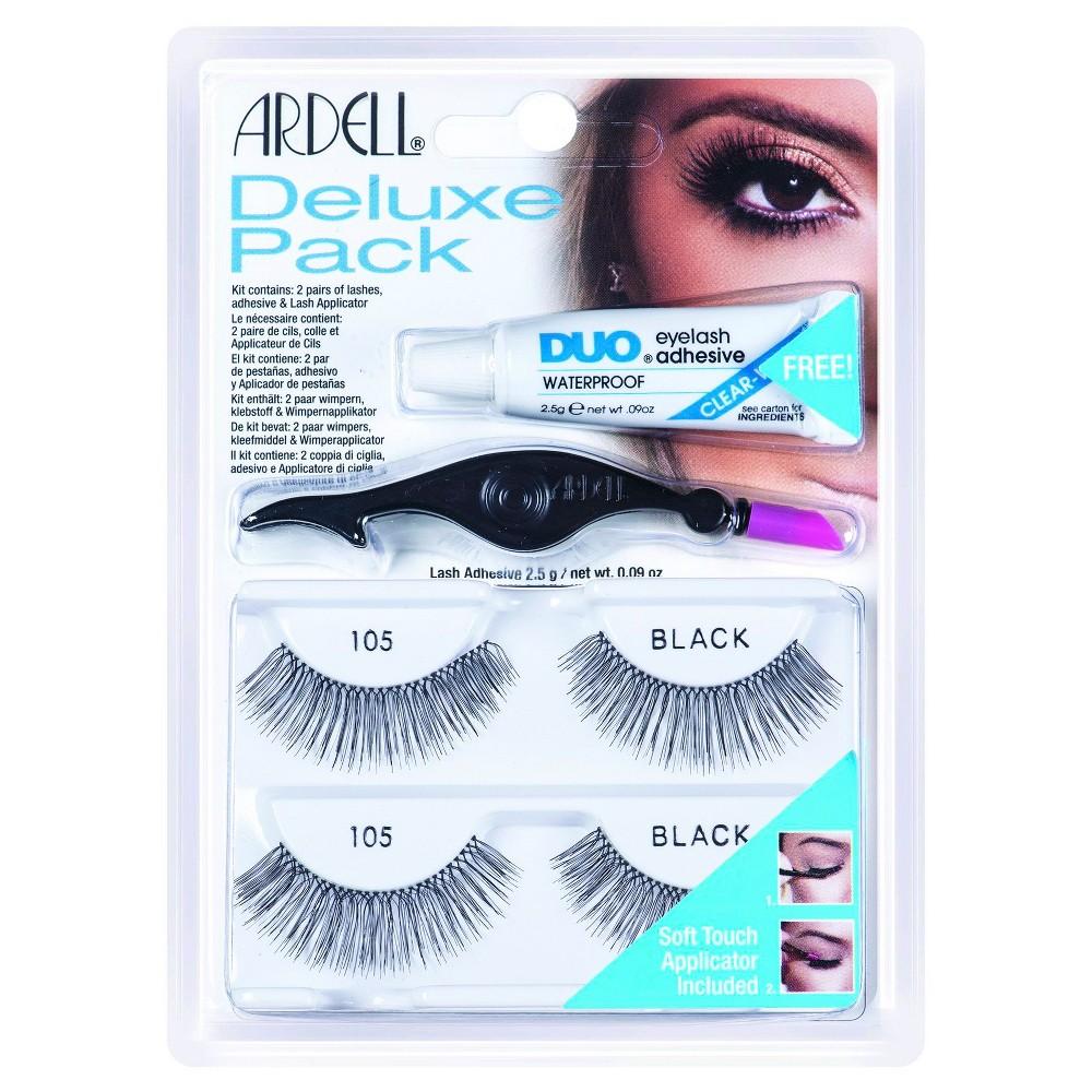 Ardell Eyelash 105 Deluxe Kit Black - 2ct