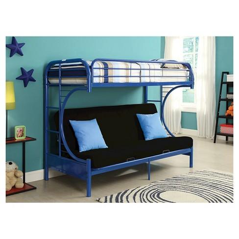 Eclipse Kids Futon Bunk Bed Blue Twin Xl Queen Target