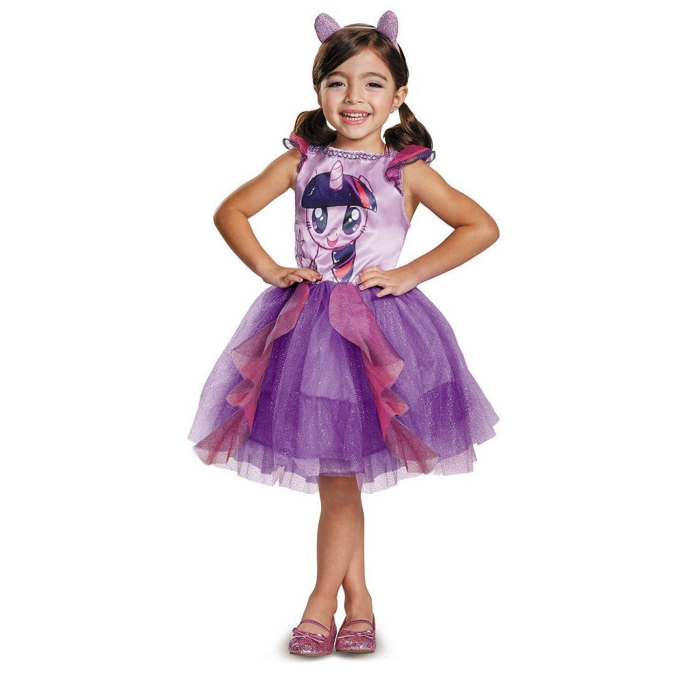My Little Pony Girls' Twilight Sparkle Classic Toddler Costume 3T-4T, Multicolored