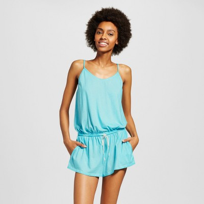 d829cefe09846 Womens Sleep Romper – Xhilaration™ Sheer Turquoise XL – Target ...