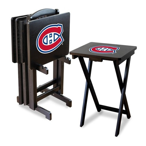 NHL Montreal Canadiens TV Trays with Stand - image 1 of 1