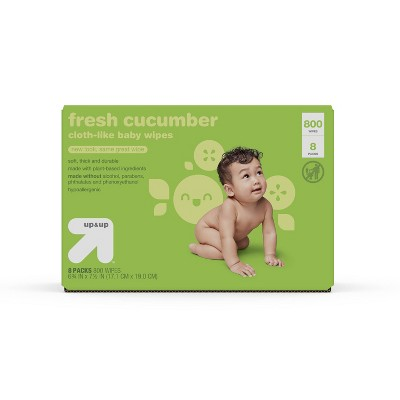 Fresh Cucumber Cloth-like Baby Wipes - 8pk/800ct Total - up & up™
