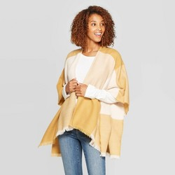 Women's Cozy Check Ruana - Universal Thread™