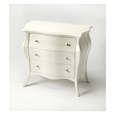 Butler Specialty Francine Bombe Chest Glossy White - image 1 of 1