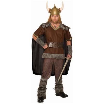 Captivating Menu0027s Viking Warrior Chief Halloween Costume One Size
