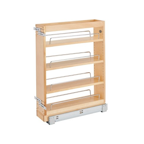 Rev A Shelf 448 Bc19 5c 5 Inch X 19 Inch Pull Out Wood Base Kitchen Cabinet Organizer With 3 Adjustable Shelves Natural Maple Wood Target