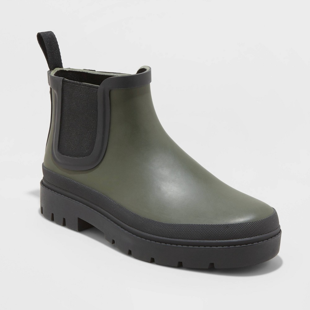 Women's Kaden Rubber Double Gore Rain Boots Universal Thread Green 5, Women's