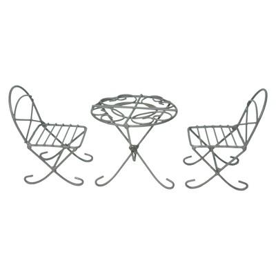 "12"" Polyester - Lawn Decor Set - Brown - MiniGarden"
