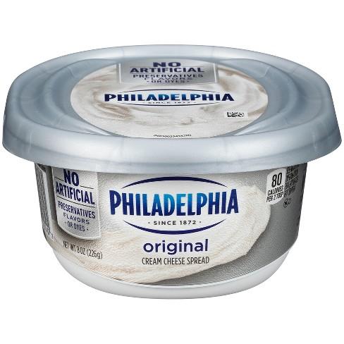 Philadelphia Regular Cream Cheese Tub - 8oz - image 1 of 4