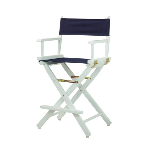 Counter Height Director's Chair - Navy Blue, Blue Blue