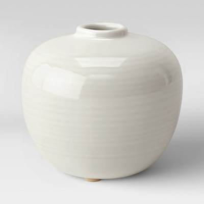 "4"" x 4.5"" Ceramic Bud Vase Ivory - Threshold™"