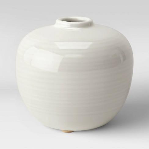 "4"" x 4.5"" Ceramic Bud Vase Ivory - Threshold™ - image 1 of 2"