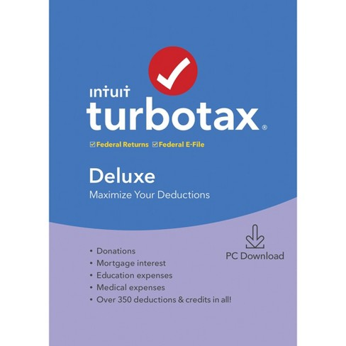 TurboTax Deluxe 2019 (State Returns Not Included) - image 1 of 2