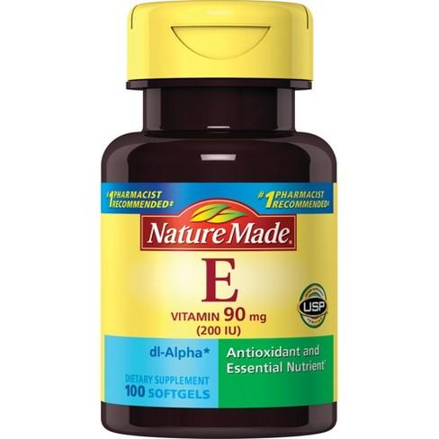 Nature Made Vitamin E 90 mg (200 IU dl - Alpha) Softgels 100ct - image 1 of 3