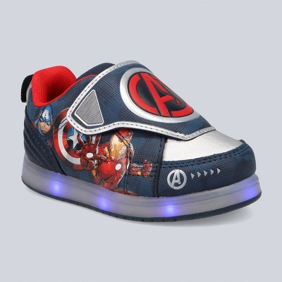 Toddler Boys' Marvel Avengers Athletic Apparel Sneakers - Silver