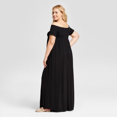 Maternity Plus Size Smocked Maxi Dress Isabel Maternity By Ingrid
