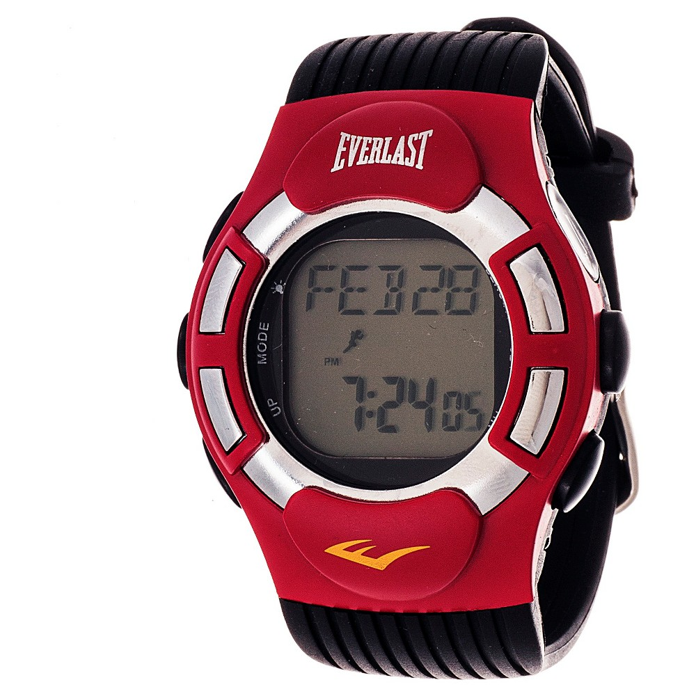 Image of Men's Everlast Finger Touch Heart Rate Monitor Watch Red, Men's, Size: Small
