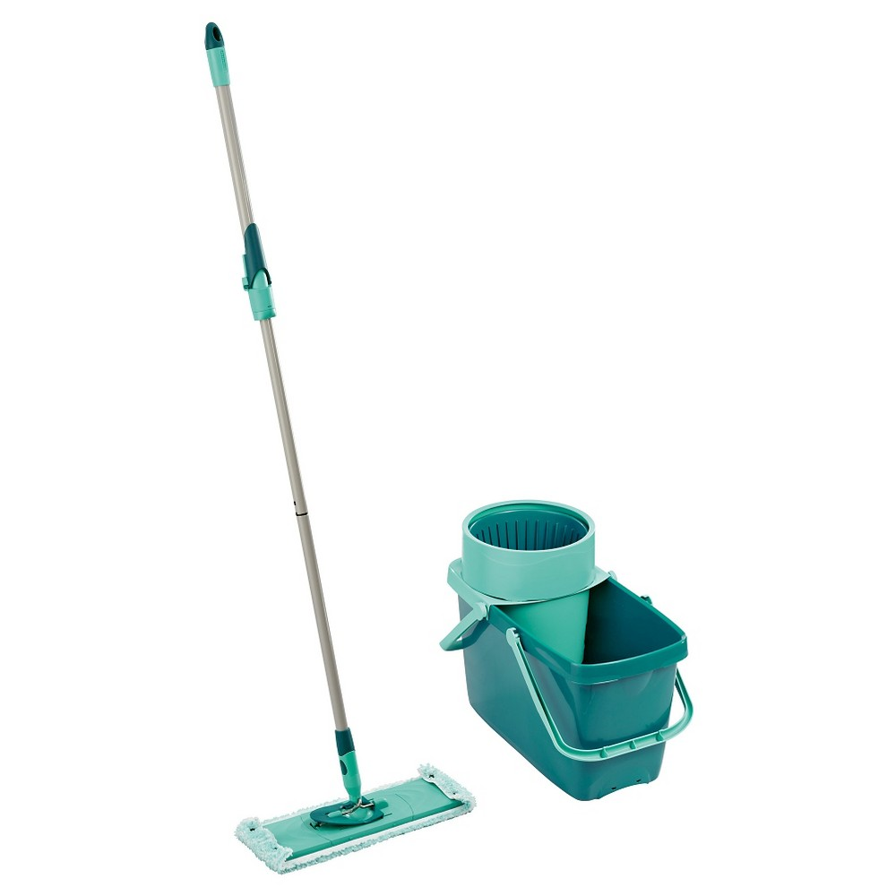 Leifheit Clean Twist XL Rectangle Mop & Sweeper Set, Lagoon Turquoise