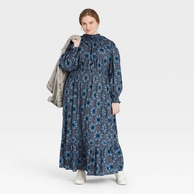 Women's Balloon Long Sleeve Dress - Universal Thread™ Floral