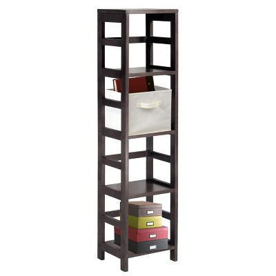'55'' 4 Section Narrow Bookshelf Espresso - Winsome'