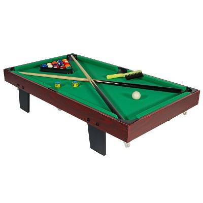 "Sunnydaze Decor 36"" Mini Tabletop Pool Table with Accessories"
