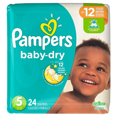 Pampers Baby Dry Diapers, Jumbo Pack - Size 5 (24 ct)