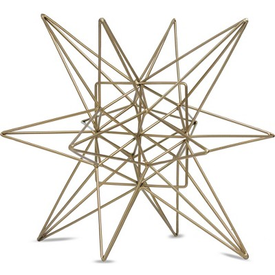 Star Figurine Metal Tabletop Décor In Steel Finish - Gold (5.91 x6.1 x5.91 )