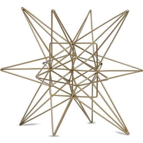 "Star Figurine Metal Tabletop Décor In Steel Finish - Gold (7.28""x8.27""x7.48"") - image 1 of 4"