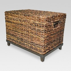 "Wicker Large Storage Trunk - Dark Global Brown 18""x18"" - Threshold™"