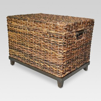 "18""x18"" Wicker Large Storage Trunk - Dark Global Brown - Threshold™"