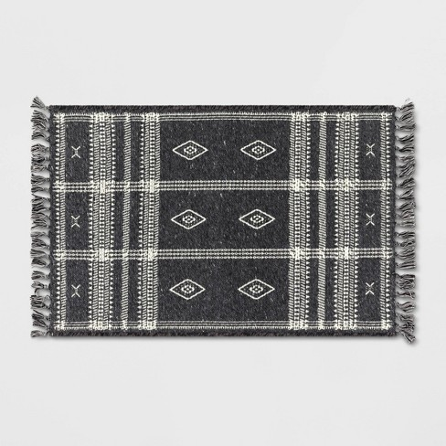 "2'3""x3'9"" Southwest Plaid Accent Rug Gray - Project 62™ - image 1 of 4"