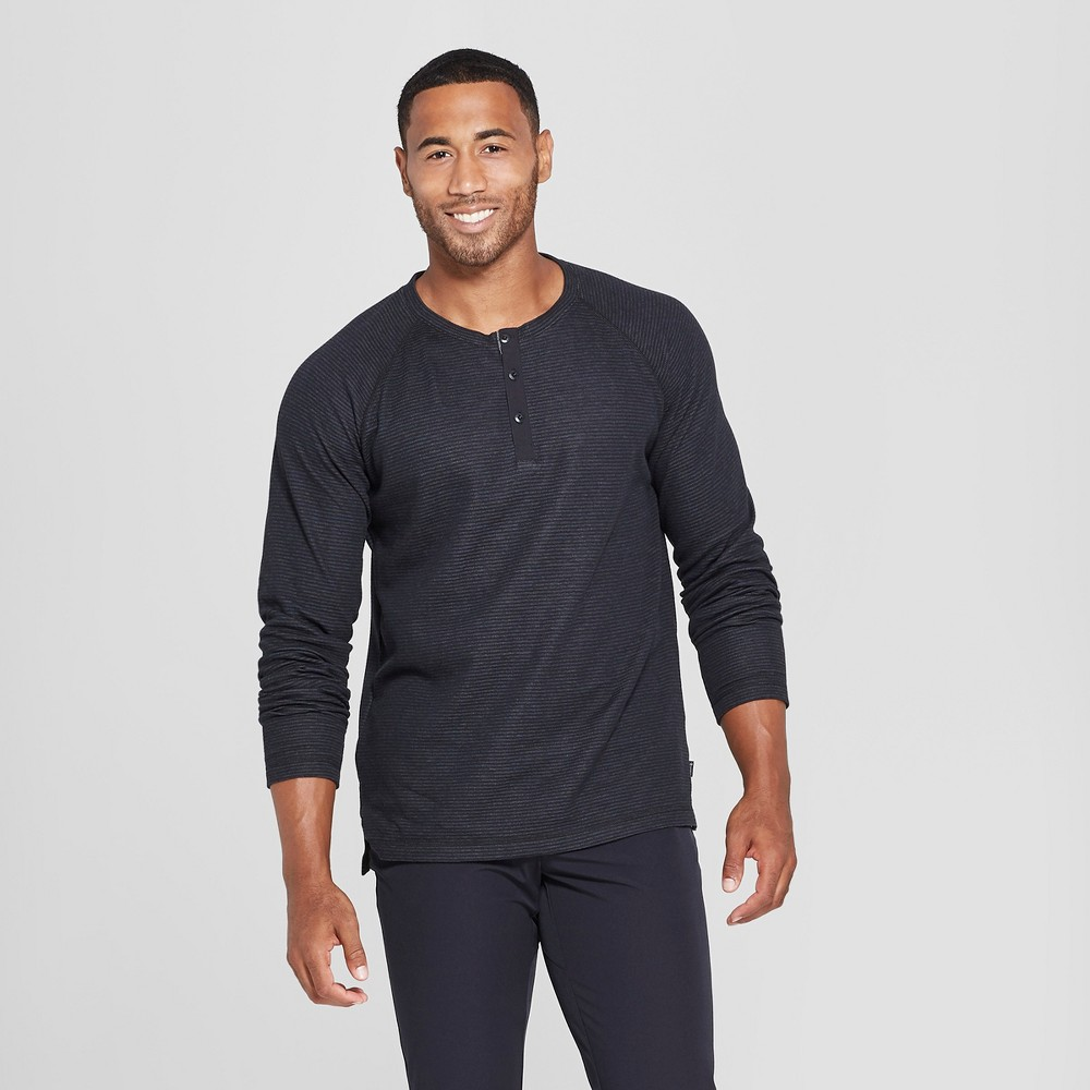 Image of MPG Sport Men's Long Sleeve Henley - Black S, Size: Small
