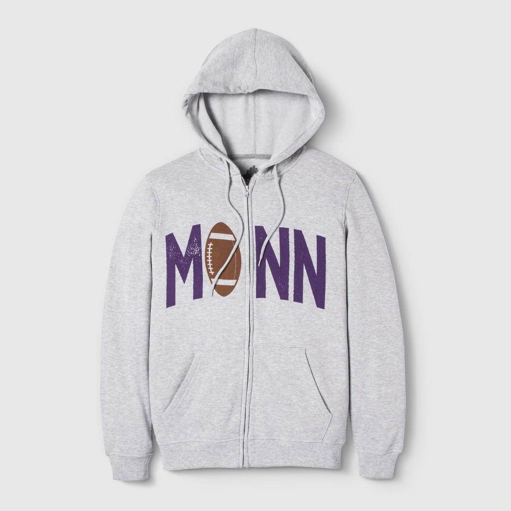 Image of Adult MINN Pigskin Hooded Sweatshirt - Awake Heather Gray L, Adult Unisex, Size: Large