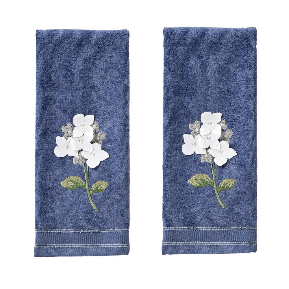 Image of 2pc Farm Hydrangea Hand Towel Set Blue - SKL Home