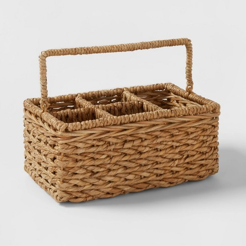 Chunky Seagrass Woven Utensil Caddy Beige - Threshold™ - image 1 of 3