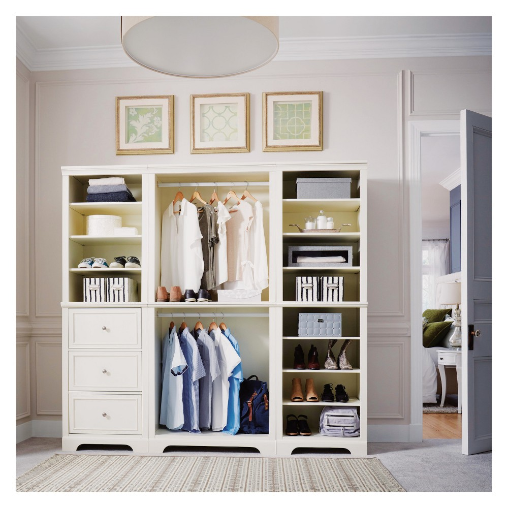 Image of 3pc Naples Closet Organizer White - Home Styles