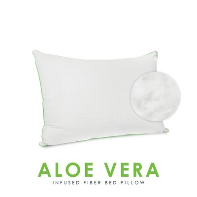 SensorPEDIC Wellness Collection Fiber Bed Pillow with Aloe Vera Infused Fabric Cover