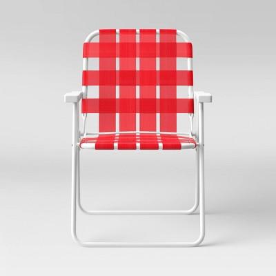 Webstrap Beach Chair - Red - Sun Squad™