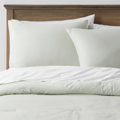 Washed Cotton Sateen Comforter & Sham Set - Threshold™