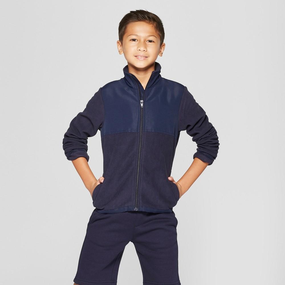 French Toast Boys' Uniform Polar Fleece Jacket - Navy L, Blue