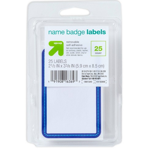 25ct Name Tags - up & up™ - image 1 of 3