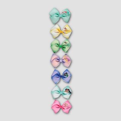 Girls' Disney Princess 7pk Bow Hair Clip