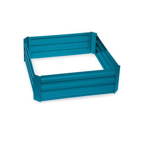 """Demeter Corrugated Metal Raised Bed, 34"""" x 34"""" Blue - Gardener's Supply Company - image 1 of 1"""