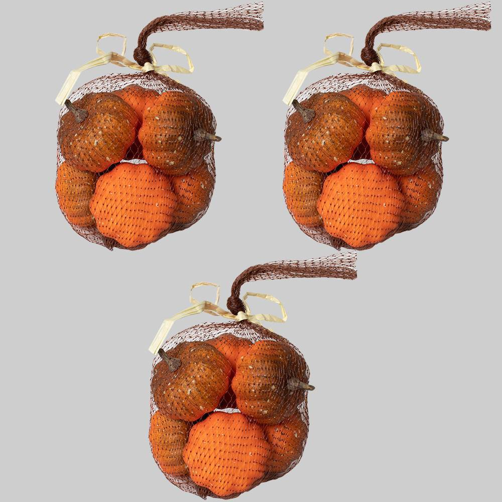 3pk Fillers Mini Pumpkins - Bullseye's Playground was $9.0 now $4.5 (50.0% off)