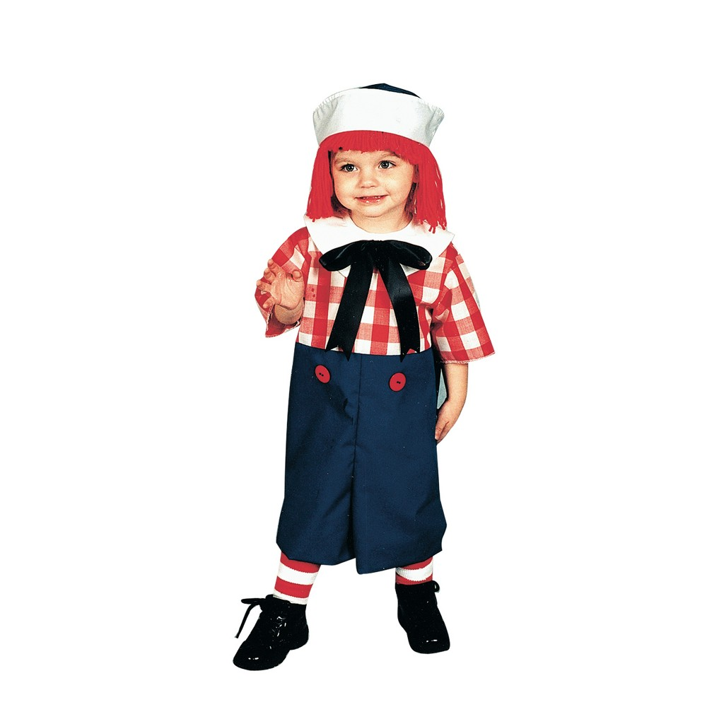Image of Halloween Boys' Raggedy Andy Toddler Costume 2 To 4, Boy's, MultiColored